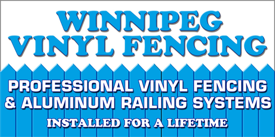 Winnipeg Vinyl Fencing Logo. Professional Vinyl Fencing Installed for a Lifetime