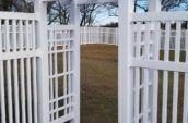 vinyl fence accessories entrance
