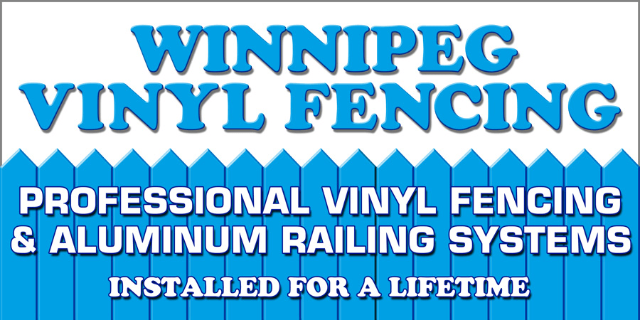 Winnipeg Vinyl Fencing Logo. Professional Vinyl Fencing Installed for a Lifetime